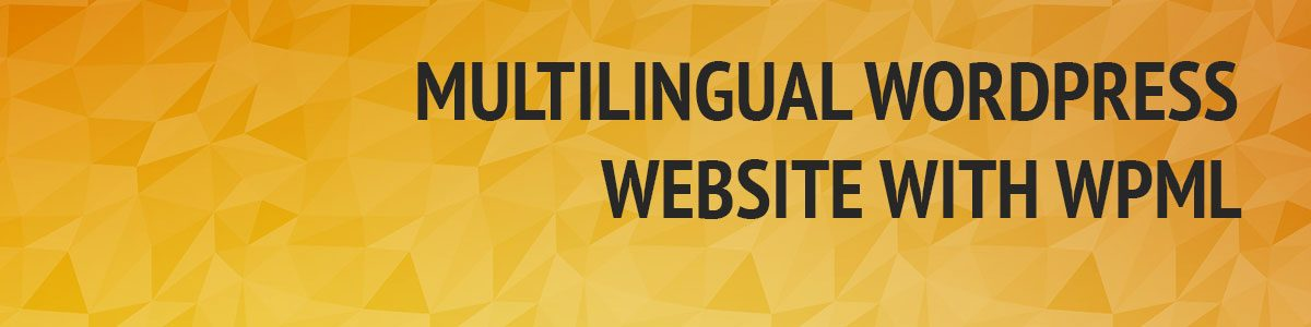 Create a multilingual WordPress website with WPML
