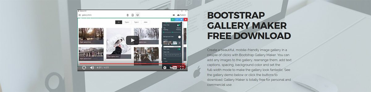 Bootstrap Image Gallery Maker