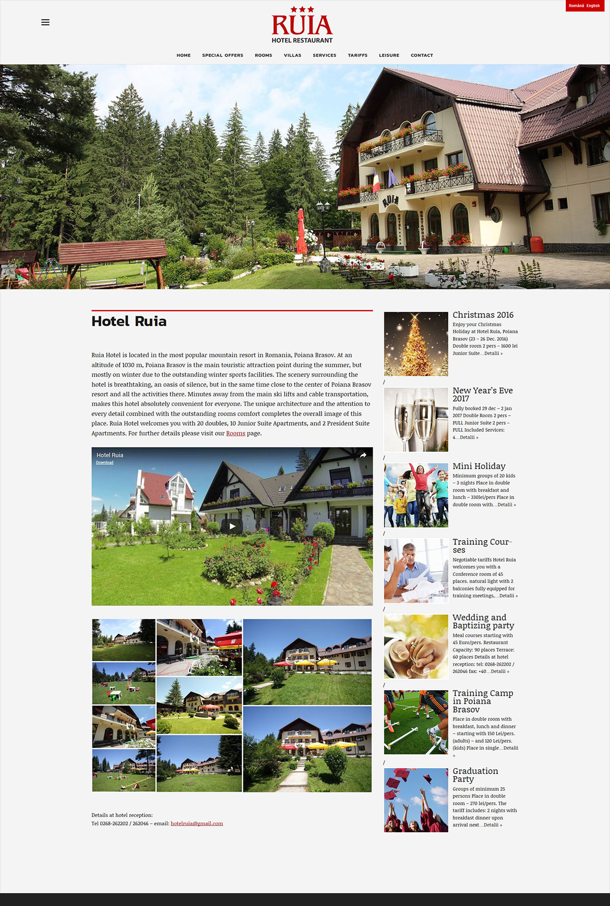 Presentation web site design