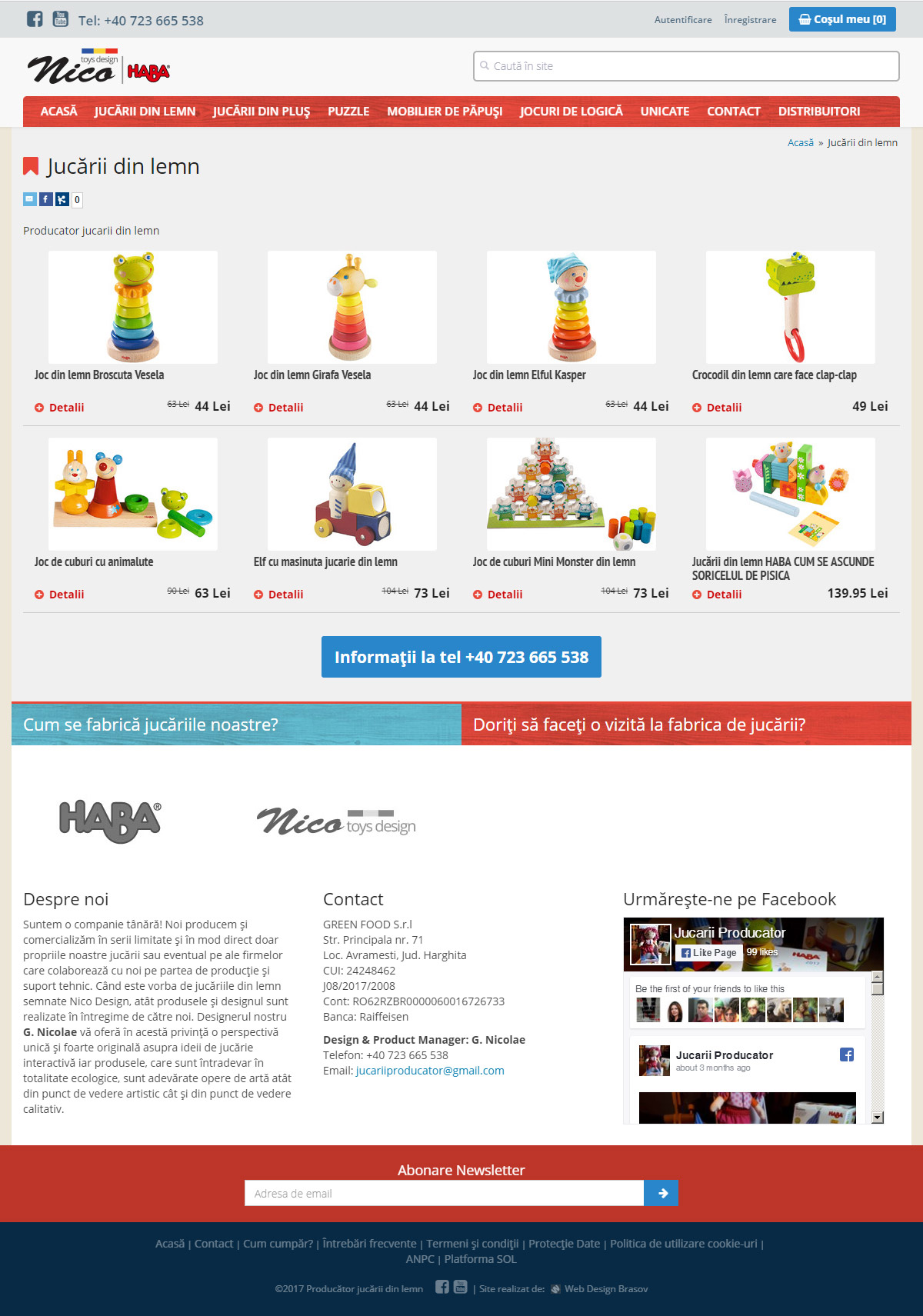 Wooden toys producer