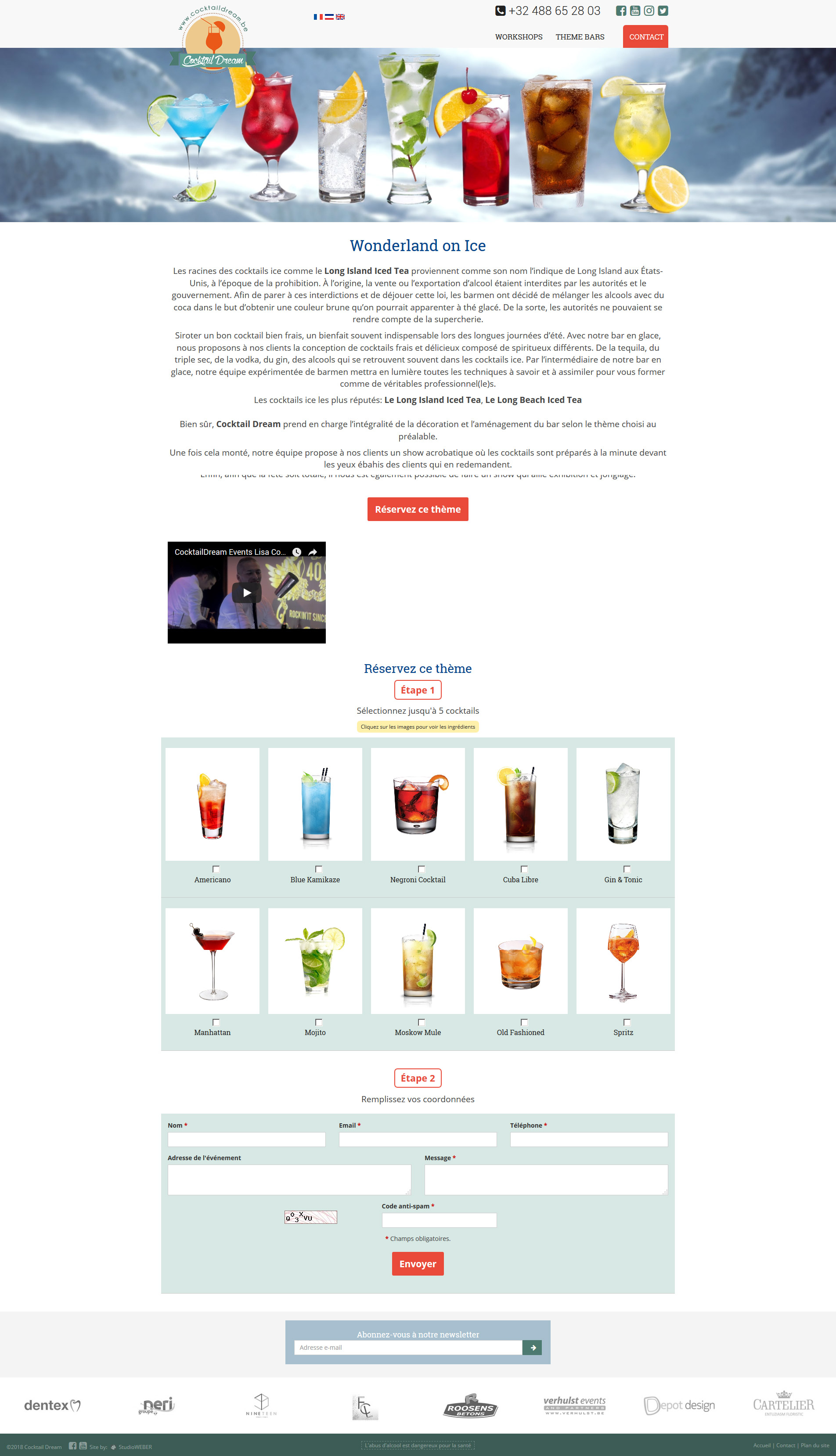 CocktailDream.be - Content Page